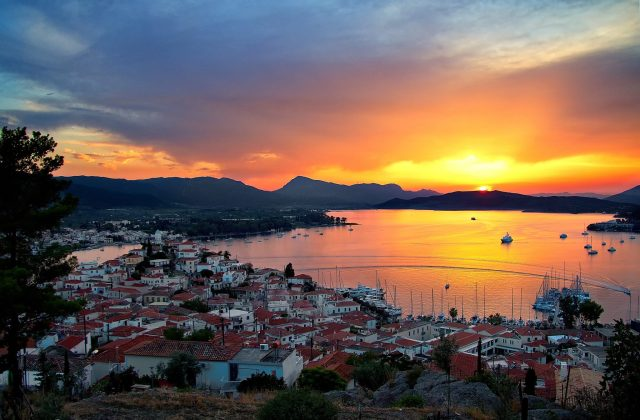 sunset-POROS-Agioi-Anargyroi