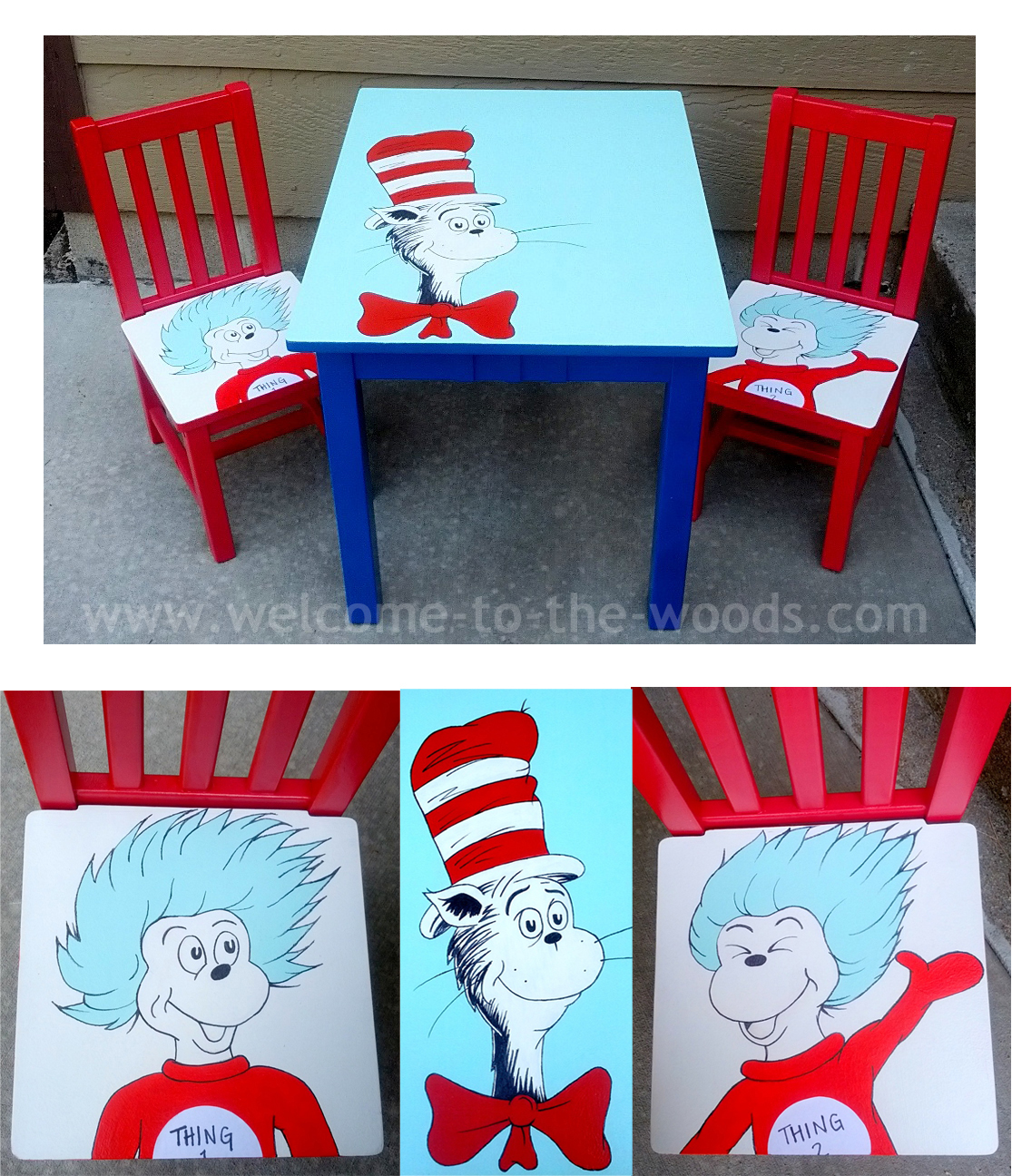 dr seuss chair dining chairs slipcovers suess table and set welcome to the woods