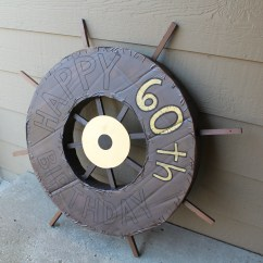 Ocean Themed Living Room Ideas Images Of Rooms With Light Gray Walls Cardboard Ship Wheel And Fake Portholes - Welcome To The Woods