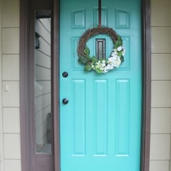 Paint Ideas For Living Room 2017 Upholstered Swivel Chairs Front Door Refresh: It Turquoise! Entryway Makeover ...