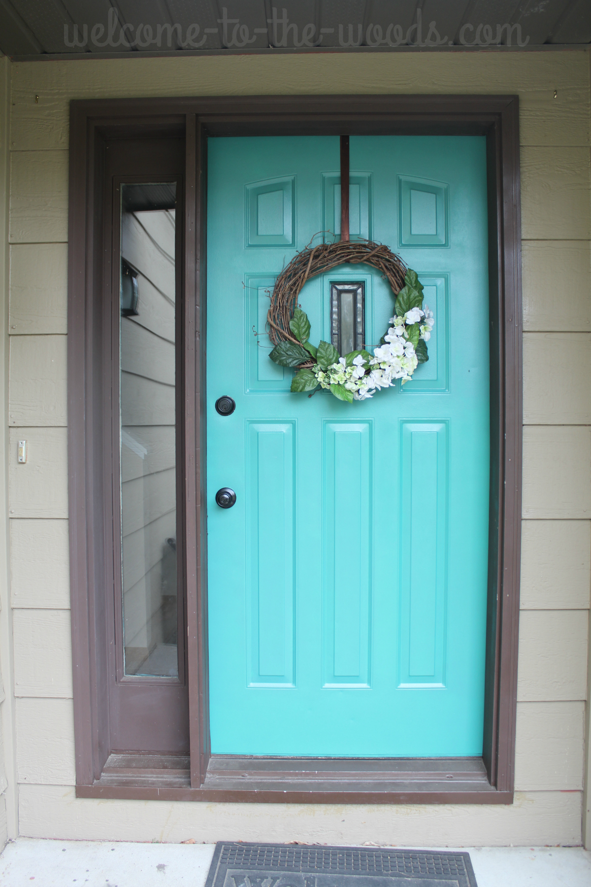 brown paint living room pictures built in wall units ireland front door refresh: it turquoise! entryway makeover ...