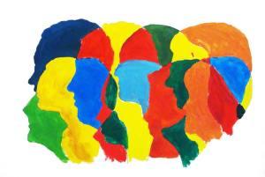 Köpfe in Farbe - ein Workshopprojekt von Studierenden und Geflüchteten