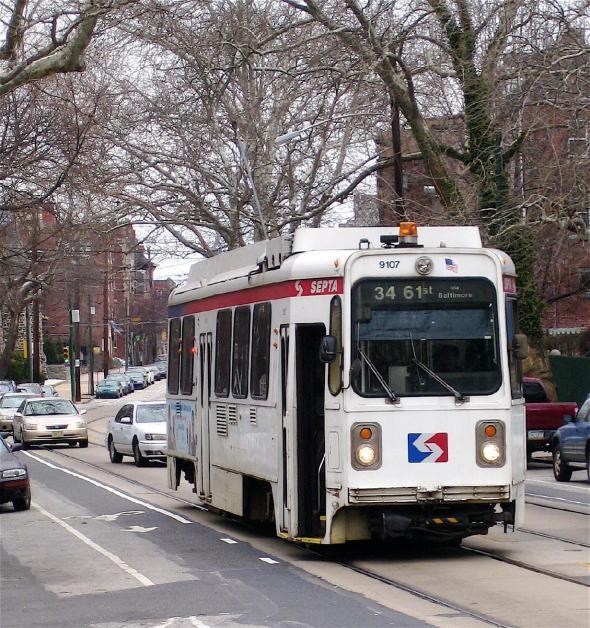 Philadelphia SEPTA Streetcar https://www.flickr.com/photos/studio34/2416404061/