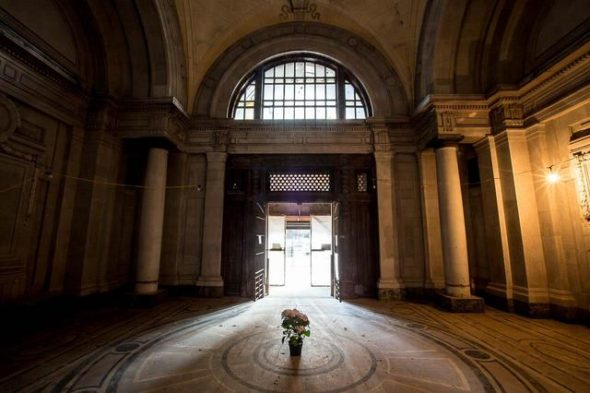Inside the rotunda at the entrance into the Old Bronx Courthouse / Photo by Tod Seelie/Gothamist