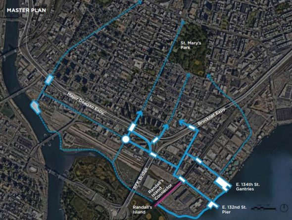The Master Plan of The Haven Project which is very similar to the Mott Haven-Port Morris Waterfront Plan (See Below)