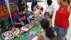 Children and their families were happy to have the Bronx Children's Museum on hand with their mobile bus. By 2017, the Children's Museum is scheduled to have their own brick and mortar space!
