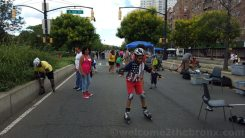 Kids were learning how to skate on the Boogie on the Boulevard this past Sunday, August 9th
