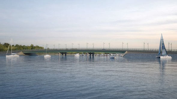Current design of what the replacement bridge will look like once complete.