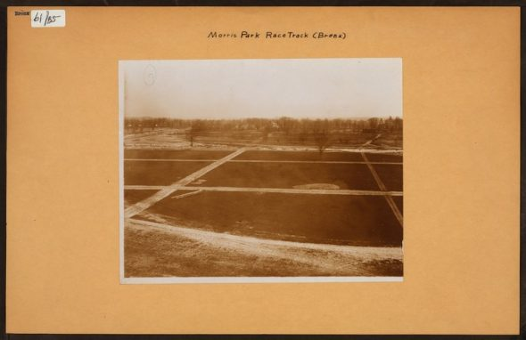 """Irma and Paul Milstein Division of United States History, Local History and Genealogy, The New York Public Library. """"Bronx: Morris Race Track."""" The New York Public Library Digital Collections. 1913."""