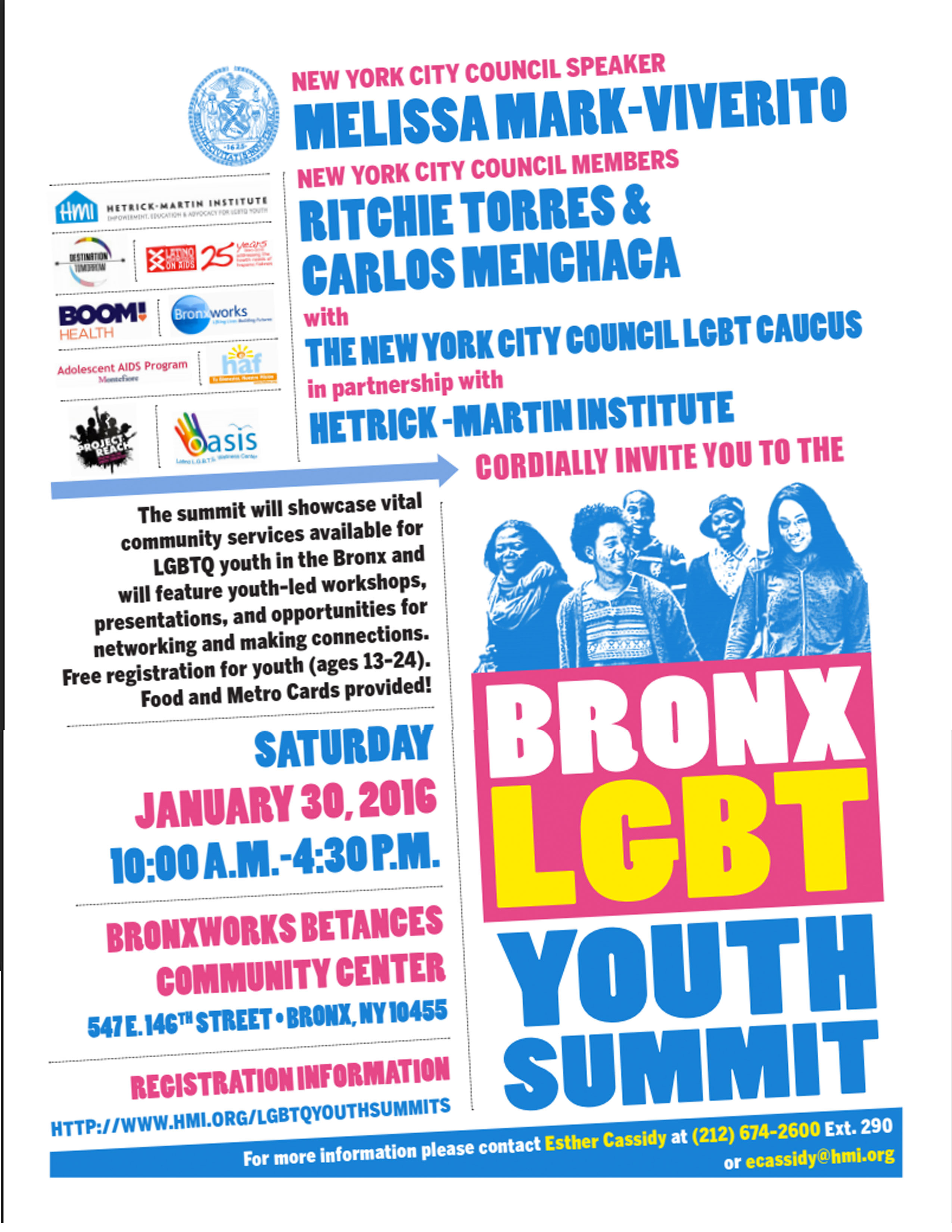 Tomorrow, Saturday Jan 30th: Bronx LBGT Youth Summit ...