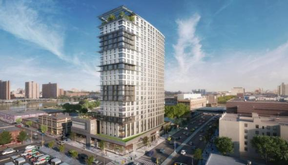 Rendering of 425 Grand Concourse on the site of the former landmark and beloved PS 31 is completely out of context of the Grand Concourse.