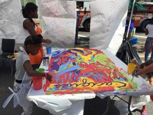 Painting with the NYC Department of Design and Construction (DDC)/Image credit: Elizabeth Hamby