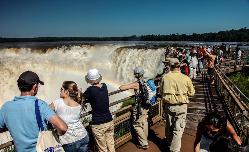 Cataratas del Iguazú desde el circuito superior