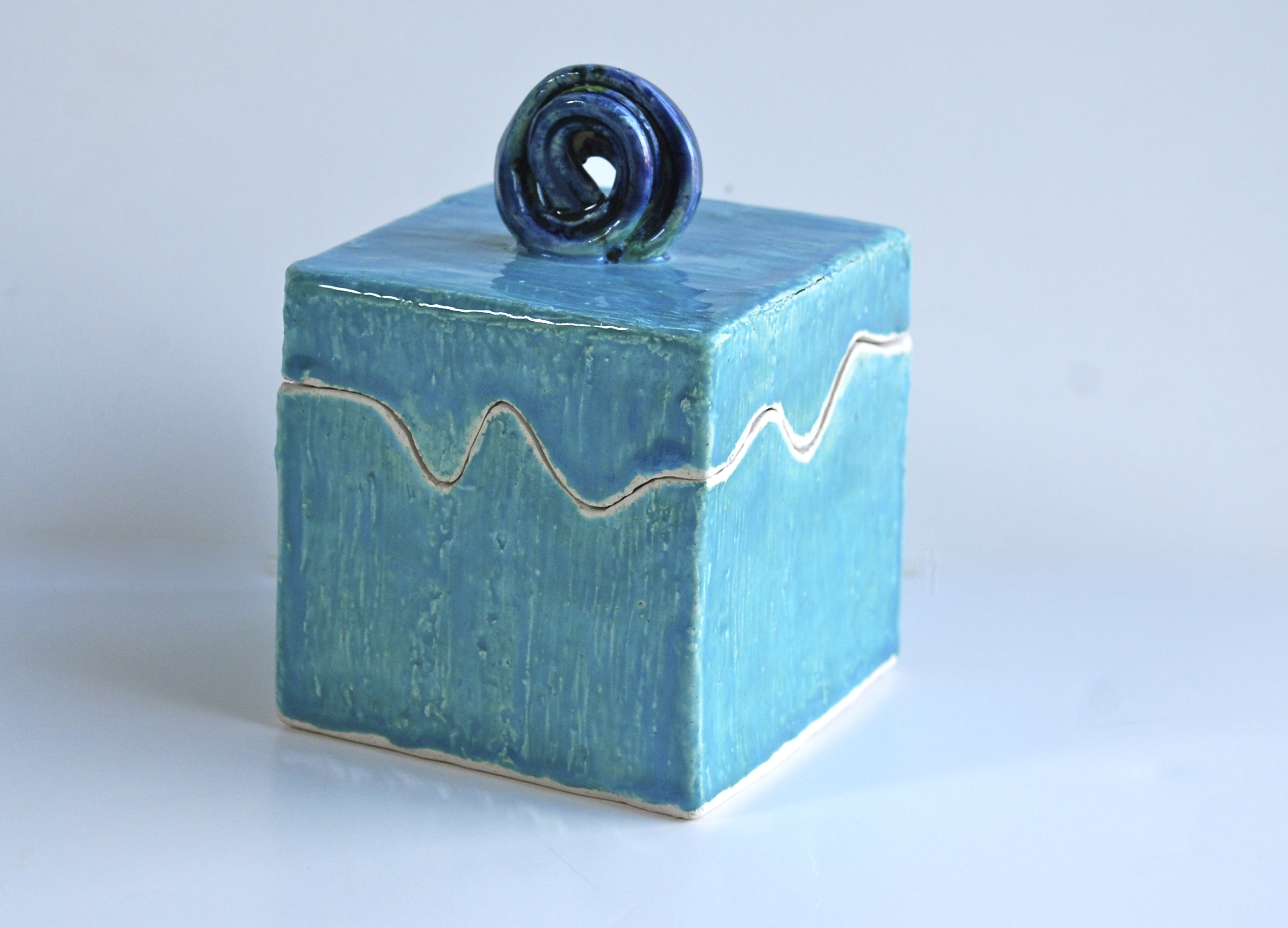 Incredible unique handmade ceramic lidded boxes