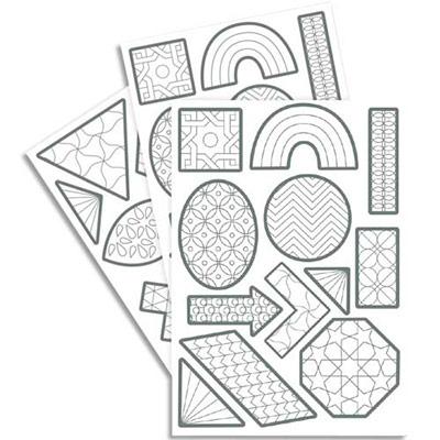 240 gommettes Maildor Tocolor géométriques à colorier