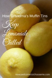 Muffin Tins Keep Lemonade Chilled