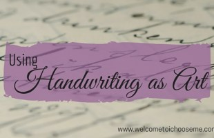 Using Handwriting as Art