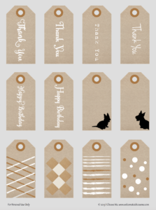 Printable Gift Tags for All Occasions Preview