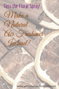 Natural Air Freshener - I Choose Me