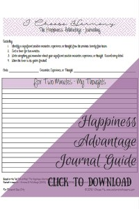 Happiness Advantage Journal Guide - I Choose Me