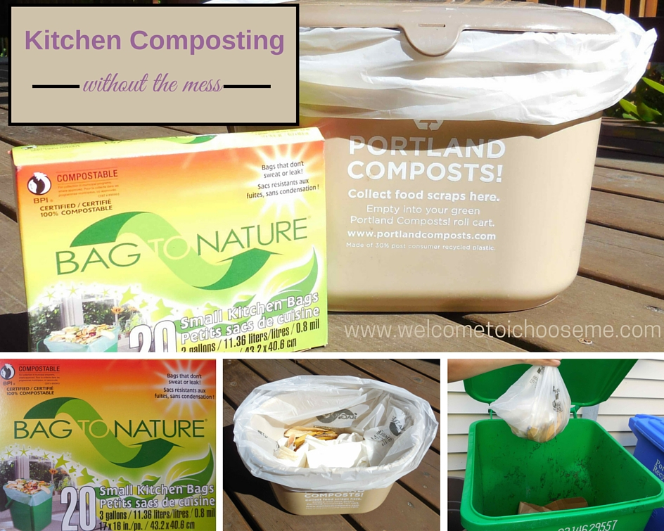 One simple change can eliminate the mess in composting, Bag To Nature - I Choose Me