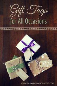 Gift Tags for All Occasions - Printable - I Choose Me