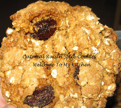 My Favorite Cookie-Oatmeal Raisin Spice Cookies