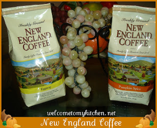 NEW ENGLAND COFFEE ~ PUMPKIN SPICE & EGG NOG REVIEW & GIVEAWAY