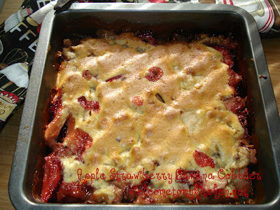 Apple Strawberry Banana Cobbler
