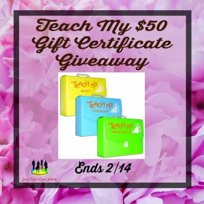 Teach My $50 Gift Certificate Giveaway @SMGurusNetwork @teachmy