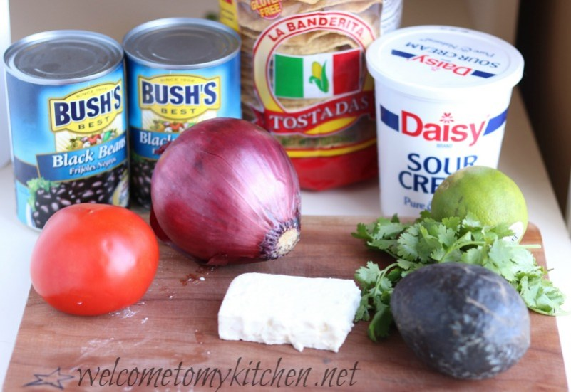 Ingredients for Meatless Monday Tostatas