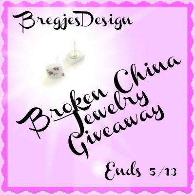 BregjesDesign Broken China Jewelry Giveaway @SMGurusNetwork