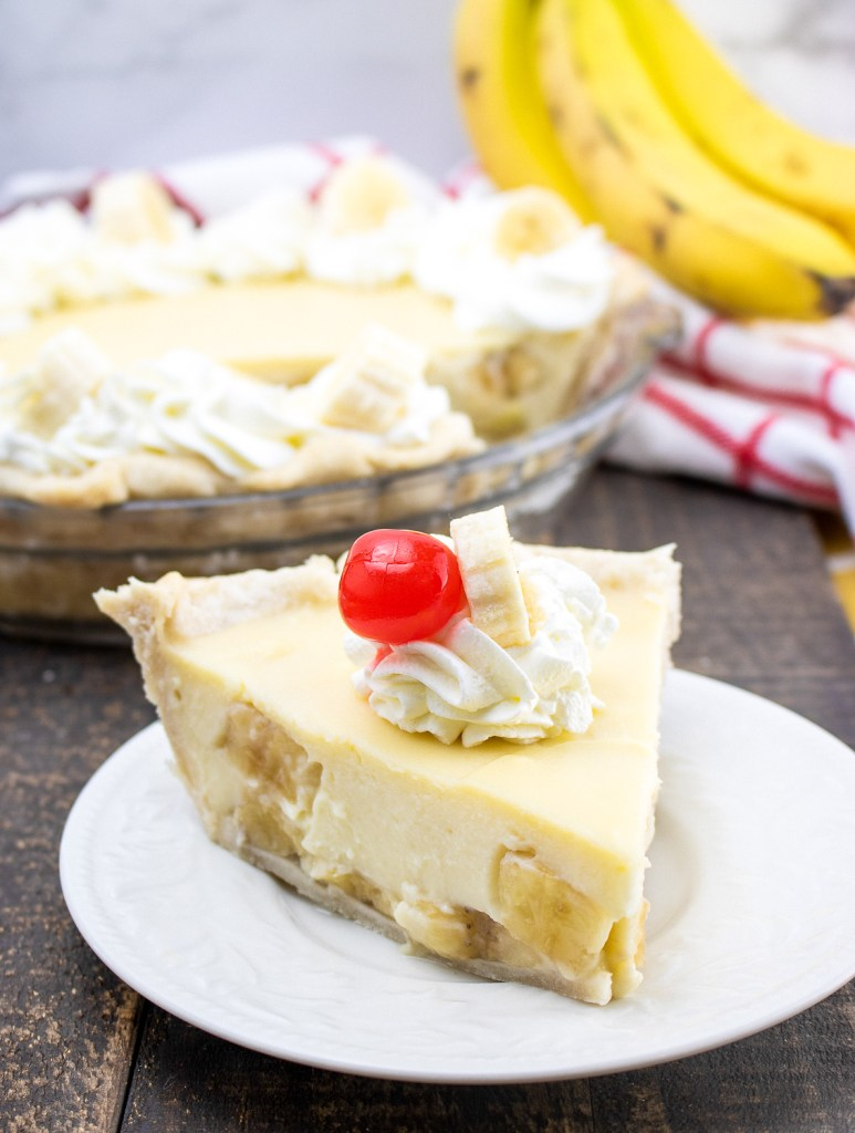 Banana Cream Pie on a plate