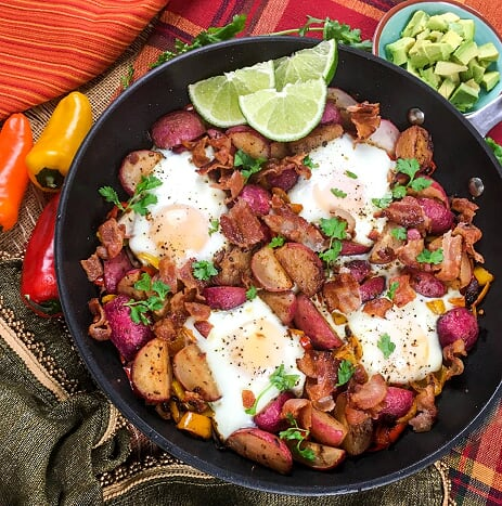 Southwestern Breakfast in a skillet