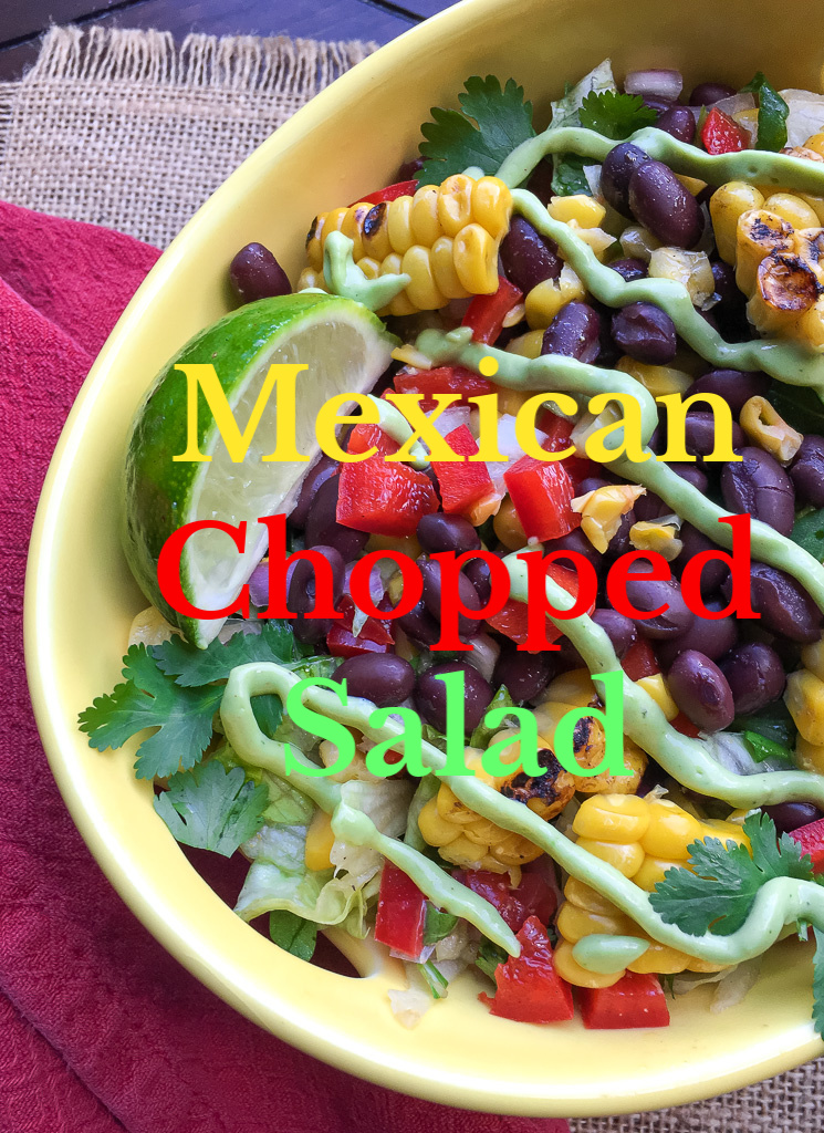 Mexican Chopped Salad in a bowl