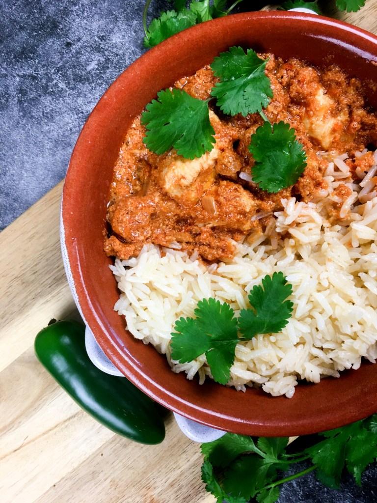 Instant Pot Chicken Tikka Masala in a bowl.