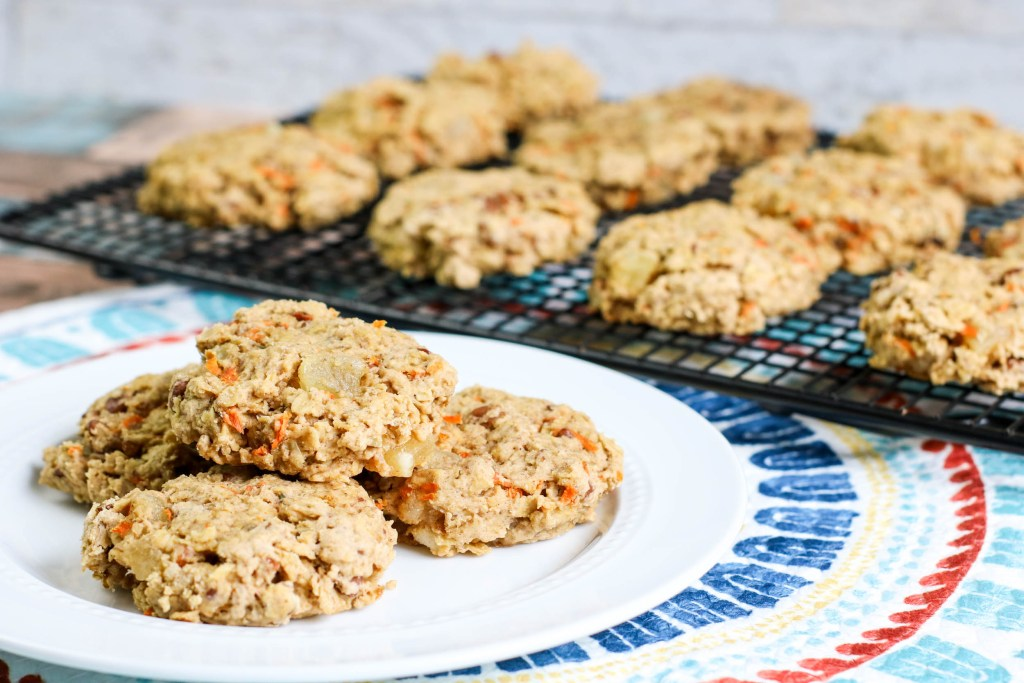Old Fashioned Carrot Cookies on a plate