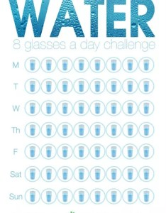 glasses  day weekly water tracking sheet also drink more oz challenge rh welcometotheonepercent