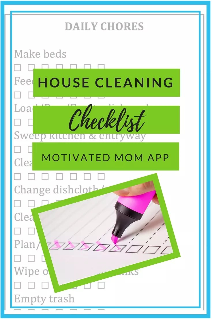 House Cleaning Checklist App