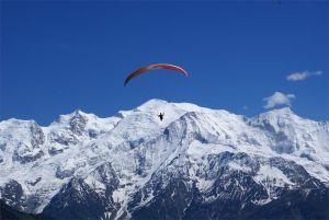 paragliding in Zillertal winter
