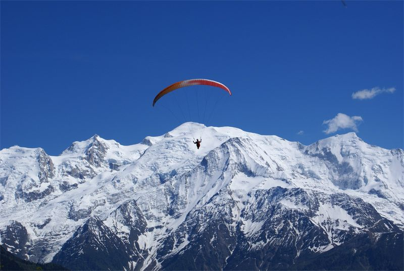 paragliding in Zillertal winter