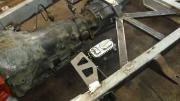 Welder Series master cylinder bracket and transmission support plates.