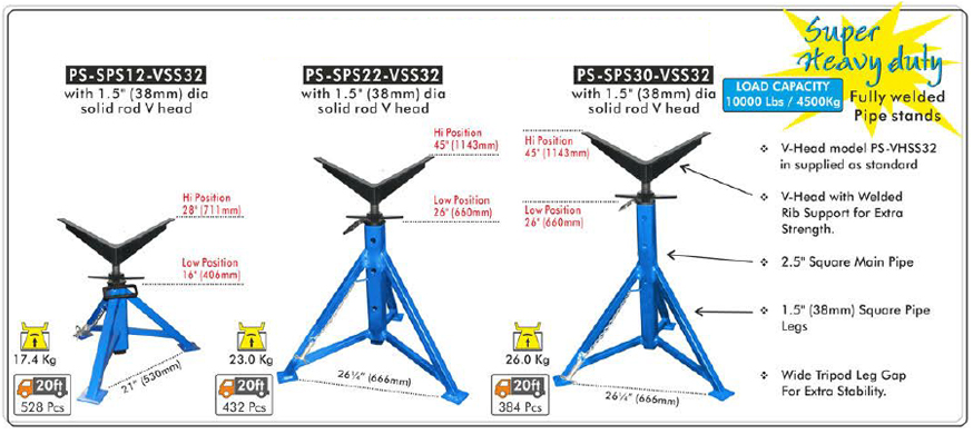Welding Pipe Stands, Fully Welded Pipe Stands, Super Pipe