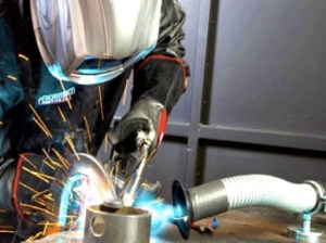 welder using indoor ventilation