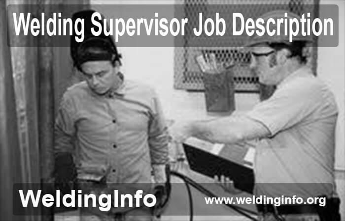 welding supervisor