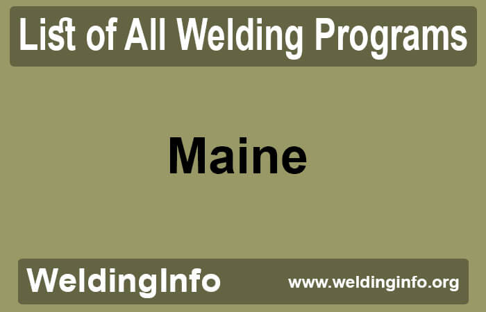 welding programs in maine