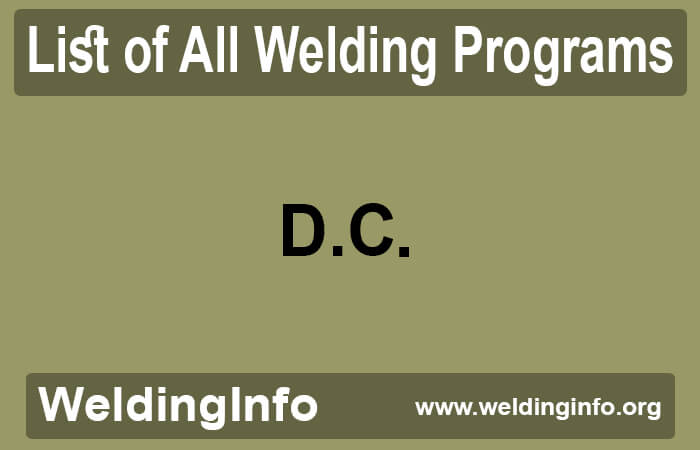 welding programs in district of columbia