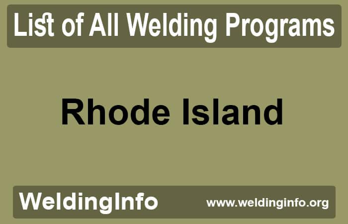 welding programs in rhode island