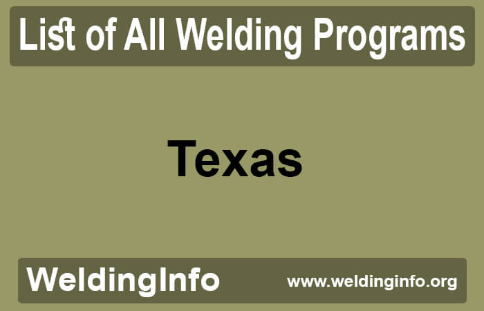 welding programs in texas