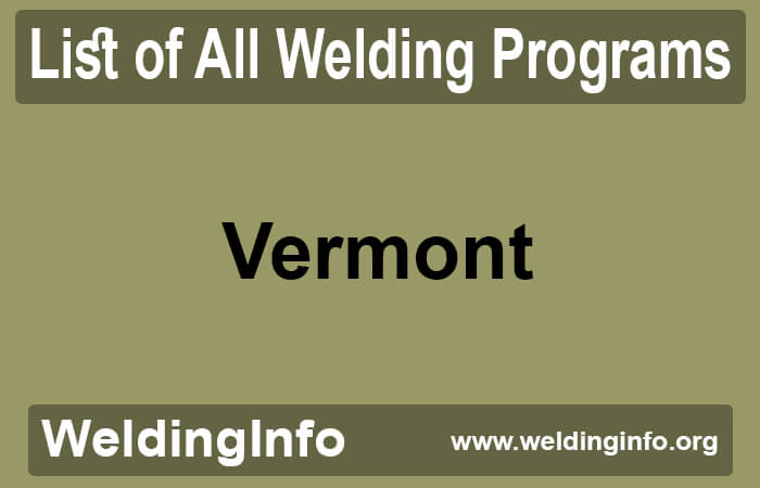 welding programs in vermont